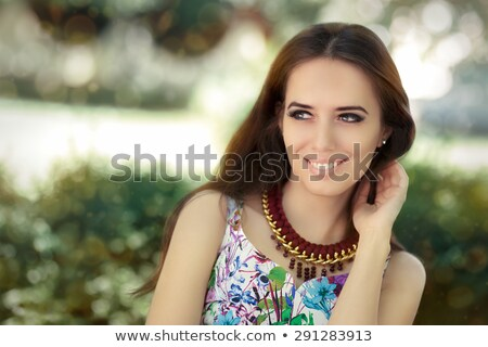 gyönyörű · nő · visel · smink · szőke · sötét - stock fotó © majdansky