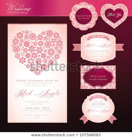 design · wedding · matrimonio · modello · vettore - foto d'archivio © vectorikart