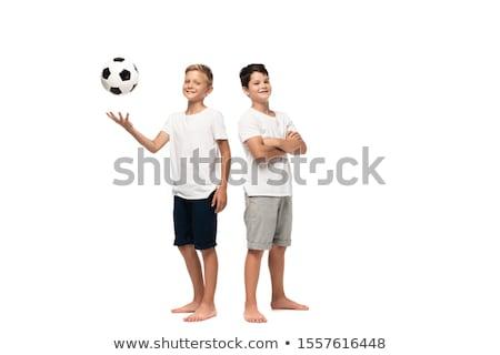 boys posing with football stock photo © nyul