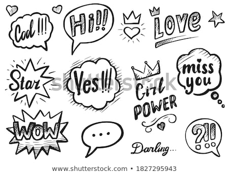 hi darling how are you stock photo © stockyimages