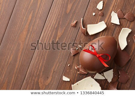 Parçalar çikolata yay koyu çikolata kahverengi Stok fotoğraf © justinb