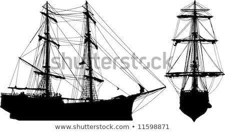 hajó · részlet · kék · ég · óceán · utazás · szél - stock fotó © perszing1982