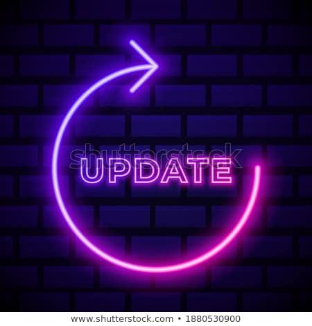 Update Button with Glowing Blue Lights. Stock photo © tashatuvango
