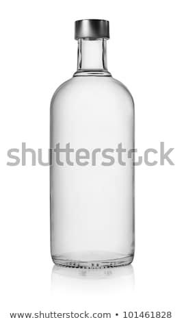 Butelek wódki odizolowany strony tle butelki Zdjęcia stock © ozaiachin