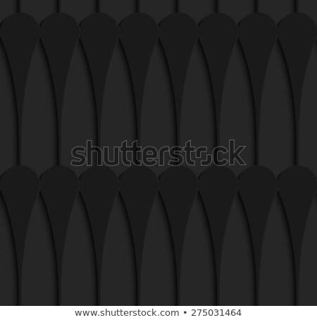 Zwarte 3D horizontaal jongleren rij naadloos Stockfoto © Zebra-Finch