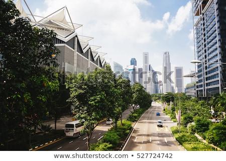 niebieski · kółko · miasta · panorama · działalności · niebo - zdjęcia stock © pinnacleanimates