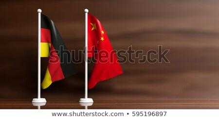 Çin Almanya minyatür bayraklar yalıtılmış beyaz Stok fotoğraf © tashatuvango