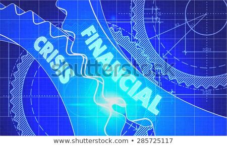 Finansal kriz planı stil mekanizma teknik Stok fotoğraf © tashatuvango