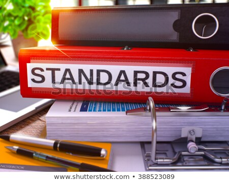 red office folder with inscription standard processes stock photo © tashatuvango