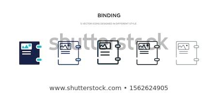 Acht nota dun lijn icon web Stockfoto © RAStudio