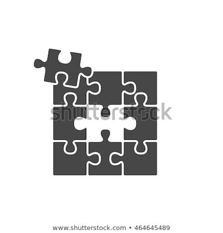 beheer · Rood · puzzel · witte · achtergrond · web - stockfoto © tashatuvango