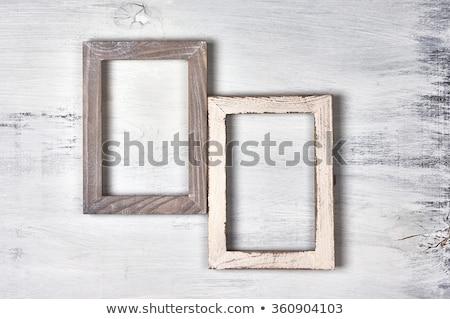 Old wooden photoframe Stock photo © devulderj