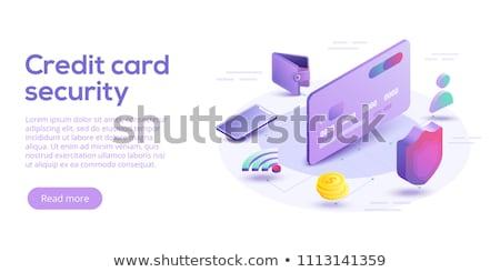 Tarjeta de crédito escudo excelente eps 10 metal Foto stock © netkov1