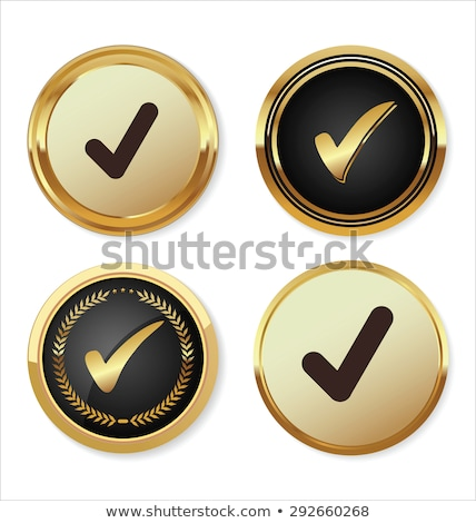 Tick Mark Vector golden Web Icon Stock photo © rizwanali3d