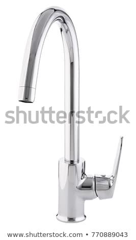 給水栓 · 家 · キッチン · 青 · バス - ストックフォト © ozaiachin