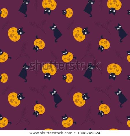 halloween seamless pattern stock photo © angelp