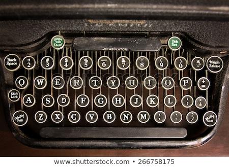 Stock photo: Retro toned vintage typewriter keys