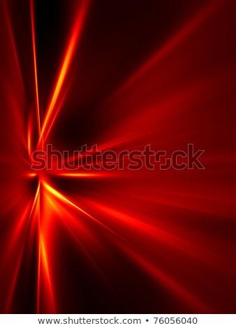 Zwarte stralen vlam abstract afbeelding fractal Stockfoto © Onyshchenko