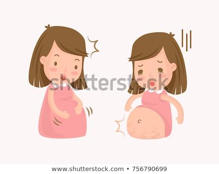jóvenes · familia · feliz · espera · bebé · elegante · Pareja - foto stock © dnf-style