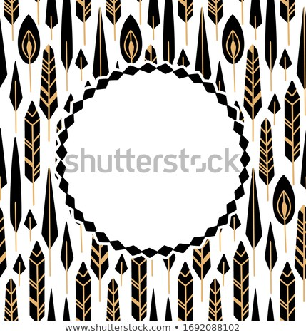 row of black decorative feathers stock photo © elisanth
