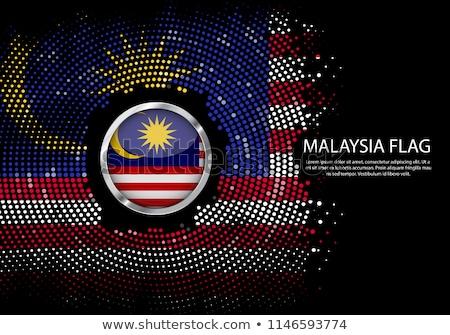 Malezya ülke bayrak harita biçim metin Stok fotoğraf © tony4urban
