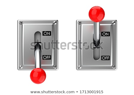 knife switch to the ON position Stock photo © tracer
