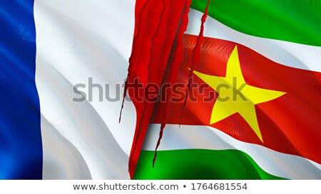 France and Suriname Flags Stock photo © Istanbul2009