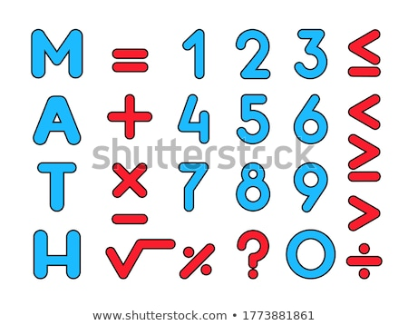Mathematical Sign Red Vector Icon Design Stock photo © rizwanali3d