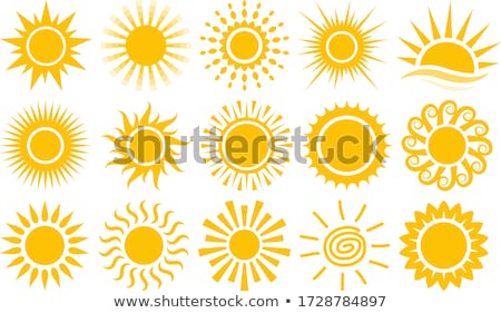 nap · szimbólum · rajz · naplemente · természet · terv - stock fotó © itmuryn