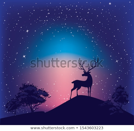 Deer and star. Stock photo © Fisher