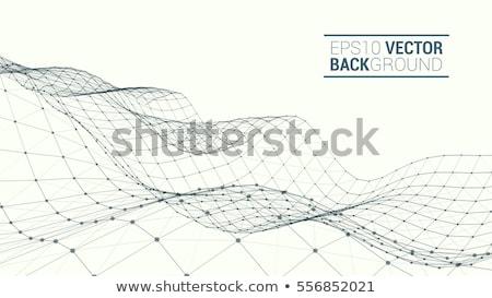 Wireframe elemento 3D esfera linhas fundo Foto stock © m_pavlov
