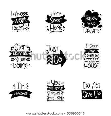 Mots signes bannières design Photo stock © zsooofija