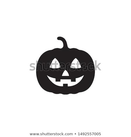 Halloween pumpkin icon Stock photo © kiddaikiddee
