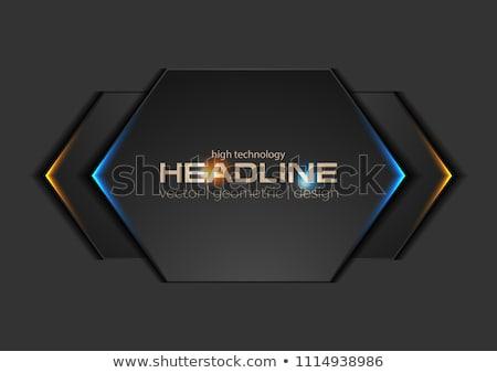 Blue black contrast arrows corporate design Stock photo © saicle
