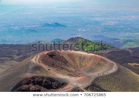 パス 先頭 火山 バス 方法 ストックフォト © Steffus