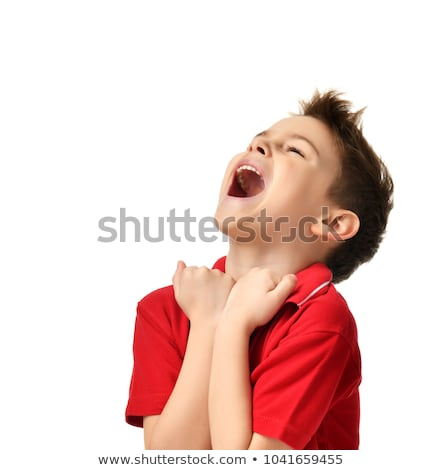 erkek · çığlık · atan · beyaz · çocuklar · yüz · çocuk - stok fotoğraf © stryjek