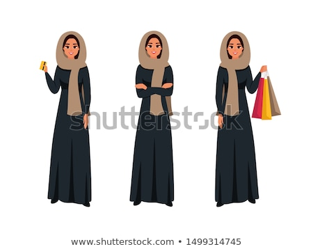 Muslim woman silhouette in arms crossed pose Stock photo © Istanbul2009