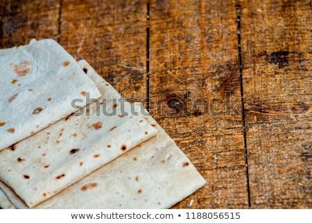 スライス 白パン 食品 パン 暗い 朝食 ストックフォト © OleksandrO