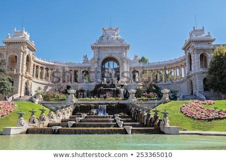 Foto stock: Marselha · França · panorama · edifício · parque · estátua