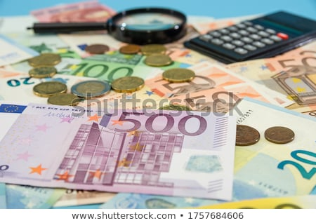 евро монеты банкнота один банка сведению Сток-фото © Digifoodstock