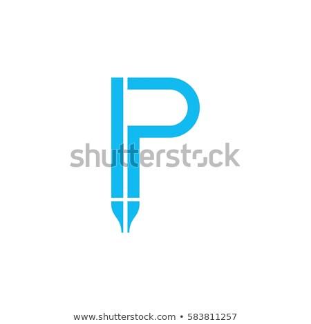 A letter P for pen Stock photo © bluering