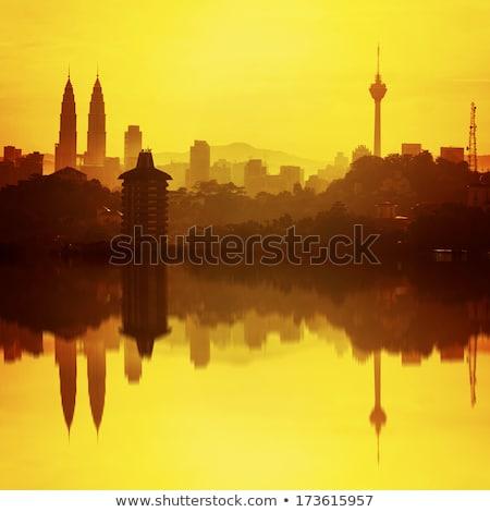 Malaysia from space during sunrise Stock photo © Harlekino