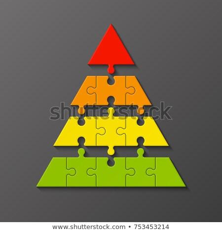 cztery · kolor · puzzle · kolorowy · odizolowany · biały - zdjęcia stock © oakozhan