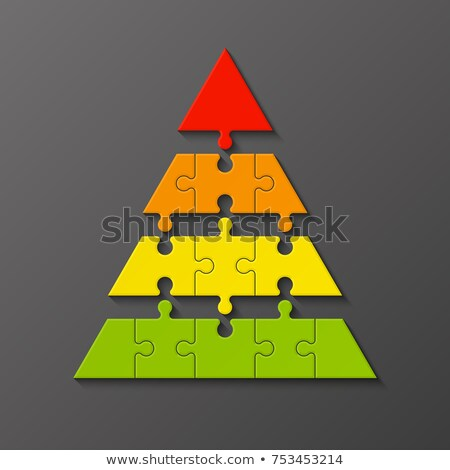 Four color puzzle pyramid Stock photo © Oakozhan