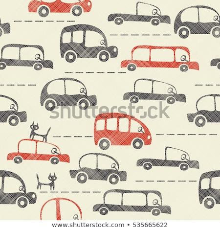 papel · coche · patrón · textura · marco - foto stock © leedsn