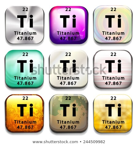A periodic table button showing the Titanium Stock photo © bluering