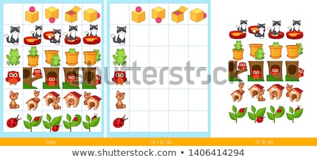 A worksheet with cats and dogs Stock photo © bluering