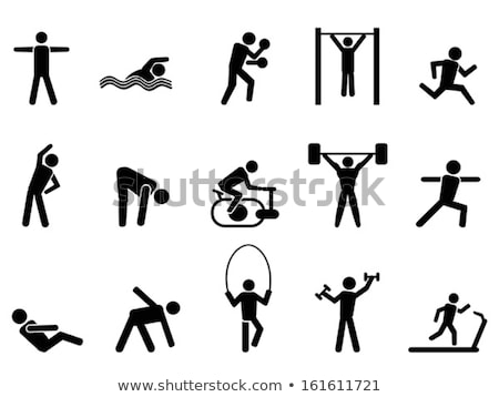 Sport icon for gymnastics on bar Stock photo © bluering