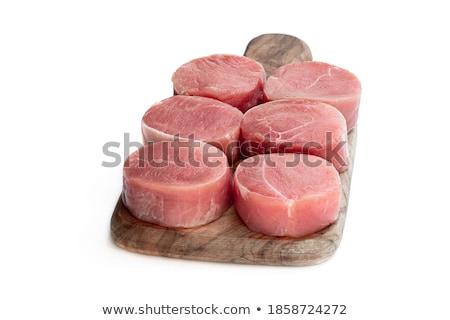 Disznóhús filé medál stúdiófelvétel étel hús Stock fotó © Digifoodstock