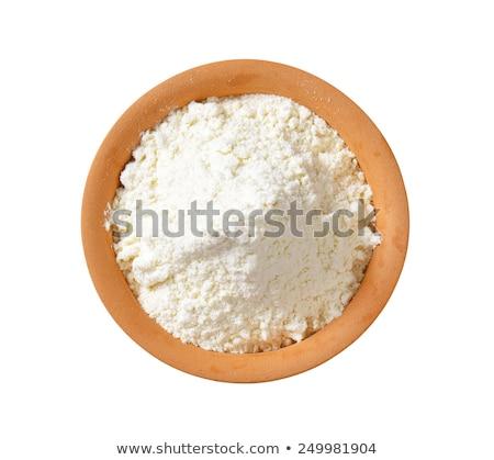 Pszenicy mąka naczyń ziemi biały puli Zdjęcia stock © Digifoodstock
